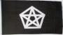 Vlag met pentagram