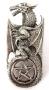 Zilveren hanger draak met pentagram
