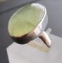 fluoriet Zilveren ring met fluoriet maat 16,5