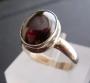 granaat Zilveren ring met granaat maat 16,5
